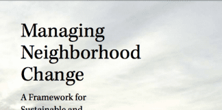 The cover of Managing Neighborhood Change by Alan Mallach.