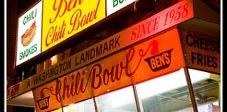exterior view of Ben's Chili Bowl in Washington, D.C.