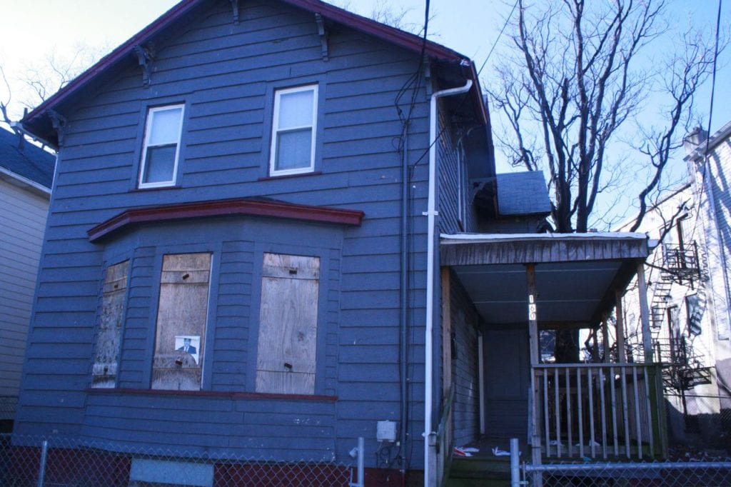 Photo shows one of the houses acquired by Operation Neighborhood Recovery, in East Orange, N.J.