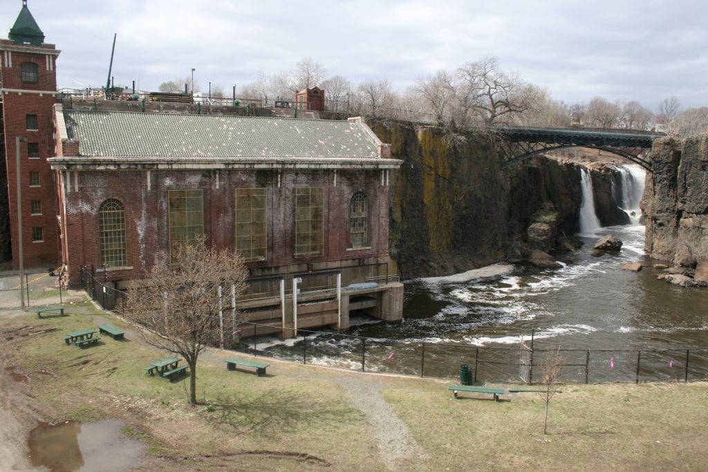 Photo shows the Great Falls in Paterson, New Jersey