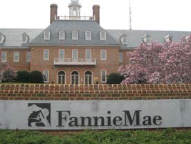 Fannie Mae and Freddie Mac: image shows FannieMae sign in front of building