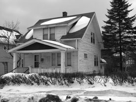 community land trusts. Image is of a house in Duluth