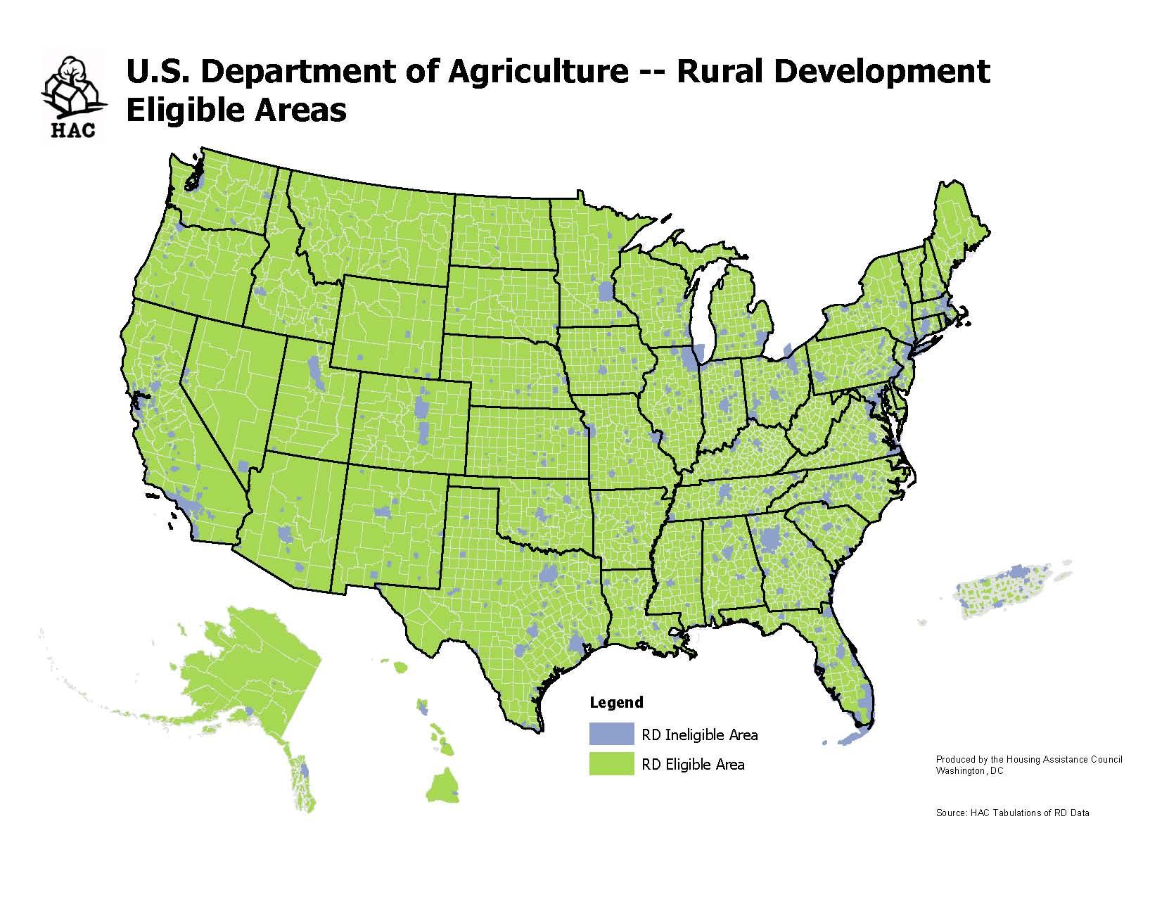 "Defining ""Rural"" for USDA's Housing Programs — Shelterforce on usda rural zone map, usda eligibility map of wisconsin, usda eligible area map,"