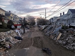 photo of damage caused by Hurricane Sandy, which causes disaster in many states in the U.S. Prior disasters have prepared nonprofits to deal with the COVID-19 pandemic