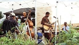 A Jazz in the Garden session at Clayton Williams Community Garden in Harlem.