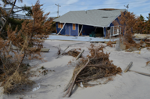 A Fire Island, N.Y., home destroyed by Hurricane Sandy.