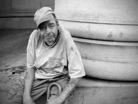 Tommy Murray, a homeless veteran.