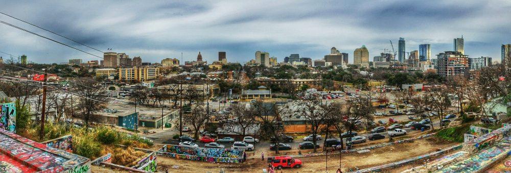 A panoramic photograph of Austin, Texas.