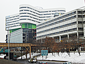 A photo of the Rush University Medical Center.