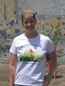Jillian Hirsh, the artist who lead the mural project.