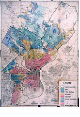 map showing redlining of neighborhoods