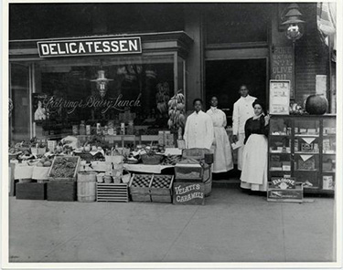 A family delicatessen in Washington, D.C., circa 1904