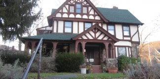 A multi-story home in Highland Falls New York, a wealthy suburb.