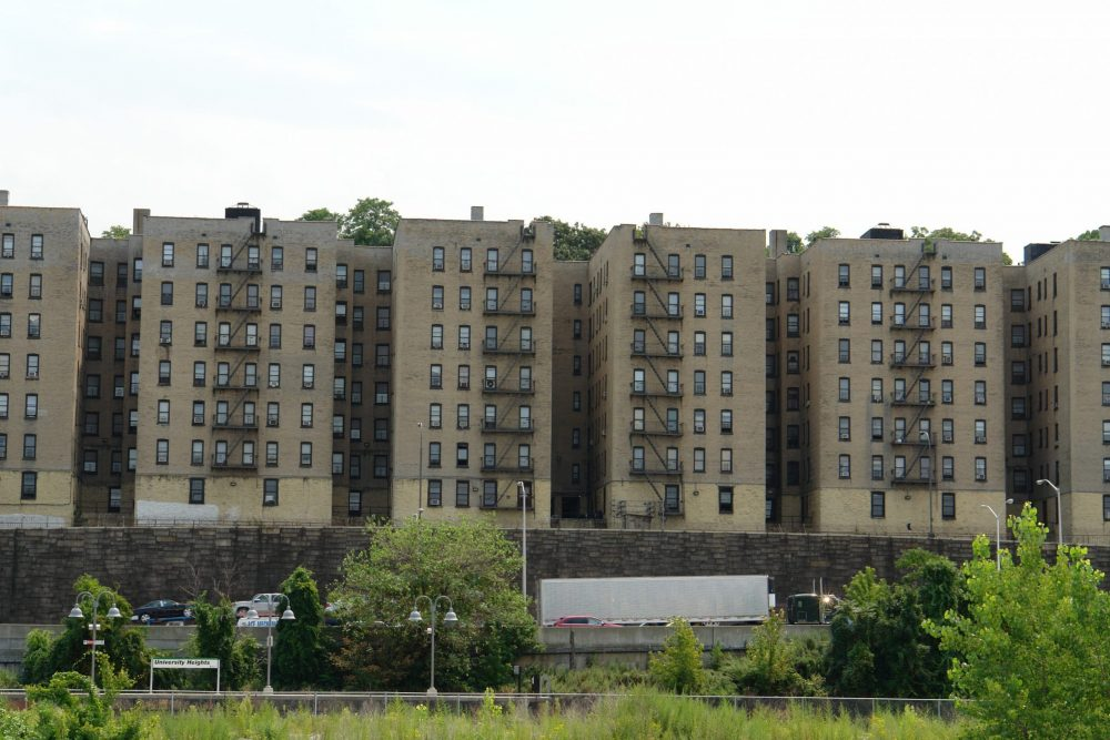 The University Heights residential complex, location in the Bronx, New York.