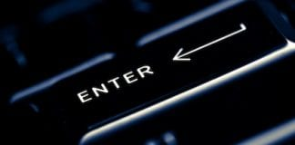 Black computer enter key
