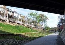 Atlanta's BeltLine bike path bordered by new homes.