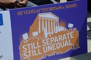 sign at 2014 brown v. board rally