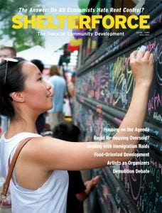 The front cover of the Fall 2017 edition of Shelterforce magazine.