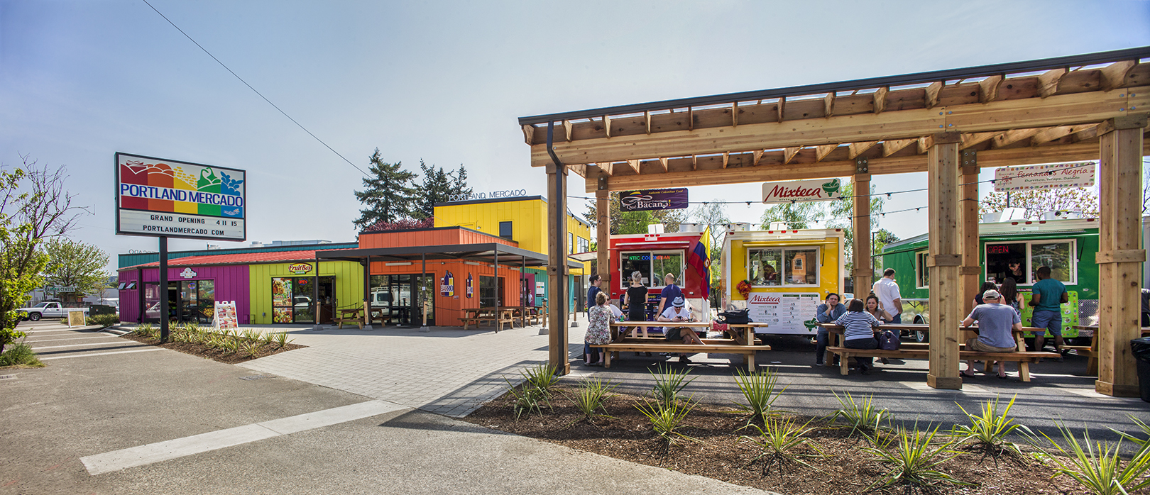 The Portland Mercado is Portland, Oregon's first Latino public market.This is an example of food-oriented development.