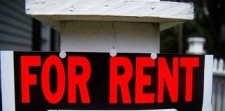 """""""For Rent"""" sign"""