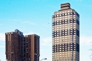 Manhattan Plaza buildings.