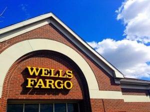 exterior of a Wells Fargo bank branch.