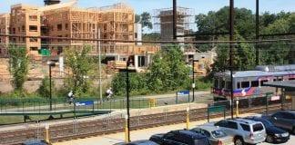 housing construction near train station