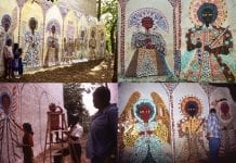 several mural images