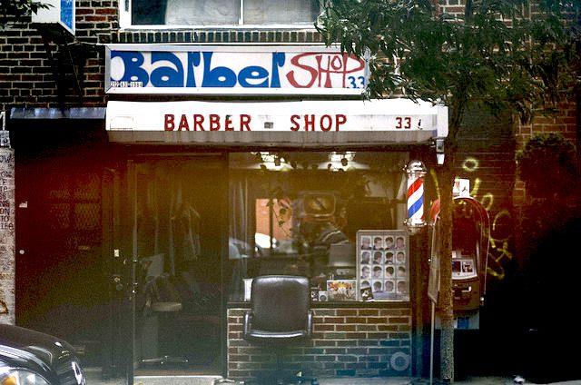 barbershop storefront