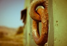 rusty door knock