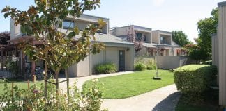 A home at the Dos Pinos Housing Cooperative, the only limited-equity housing co-op in Davis, California.