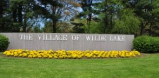The entrance to The Village of Wilde Lake in Columbia, Maryland.