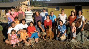 Original residents of the Common Ground Co-op soon stand together after move-in in 2008.