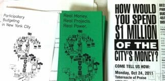 participatory budgeting fliers