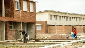 """There are many different housing models. In this Uruguay model, volunteer resident labor, or """"sweat equity,"""" cuts the construction costs of housing and facilities."""