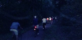 nighttime bike riding.