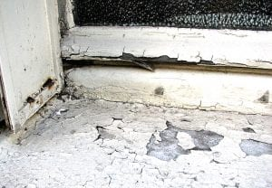 Lead hazards, like peeling paint from a windowsill, can cause lead poisoning in children.