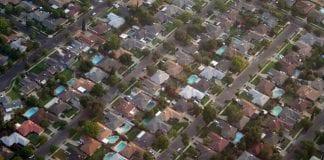 California homes aerial