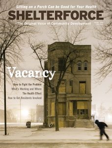 The cover of the Winter 2018 edition of Shelterforce magazine.