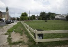 A once-vacant lot in Philadelphia that has been cleaned.