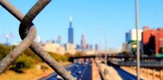 chain link fence skyline