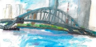 bridge watercolor