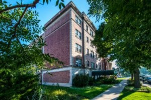 The Community Investment Corporation financed the purchase of this Chicago building for affordable housing, instead of building a new multi-unit building.