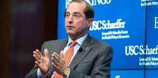 U.S. Secretary of Health and Human Services (HHS) Alex Azar.