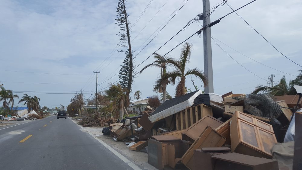 Big Pine Keys was hit hard by Hurricane Irma. More than 700 buildings, mostly homes, were destroyed or severely damaged.