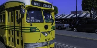 The F Market line is one of several light rail lines in San Francisco that uses historic equipment.
