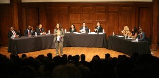 St. Louis mayoral candidates gather for a forum led by the Social Policy & Electoral Accountability Collaborative.