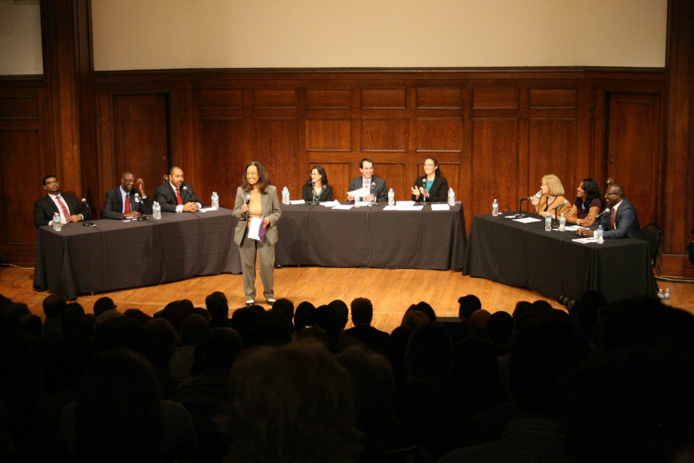 St. Louis mayoral candidates gather for a forum led by the Social Policy & Electoral Accountability Collaborative to ensure racial equity remained a major issue.