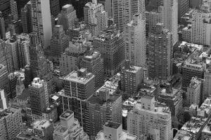 new york city skyline: 13th street