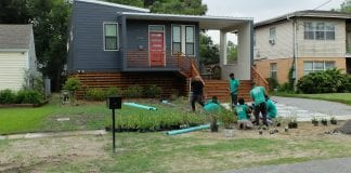 Home by Hand Inc. builds homes on vacant lots for moderate-income homebuyers, who contribute sweat equity and are often joined by volunteers.